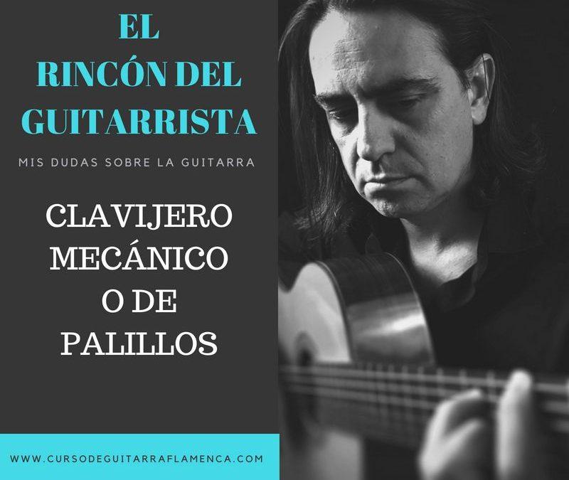 GUITARRA DE CLAVIJERO MECÁNICO O DE PALILLOS